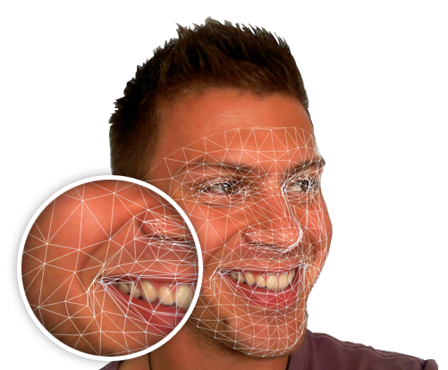 3-d computer image of facial expression